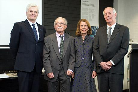 Glyn Davis, Jurij Semkiw, Elizabeth Alexander and Peter Thorne