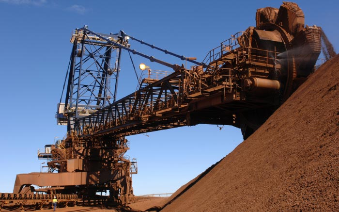 Machinery at an iron ore mine
